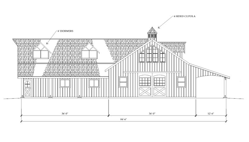 Uncle Howards 60x84 Great Western Horse Barn Plan Winters Grace