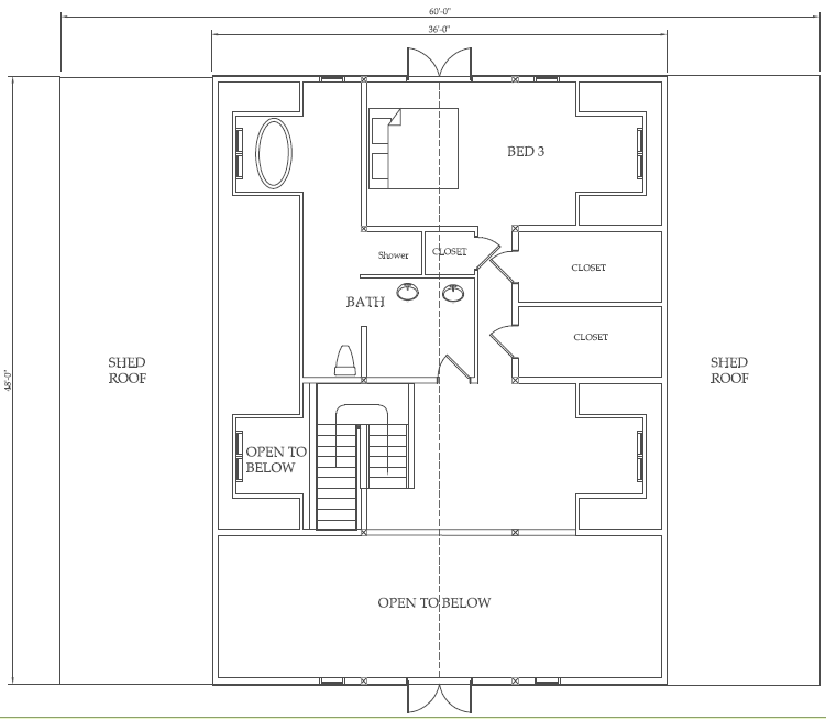 Shed house floor plans marskal for Barn house floor plans