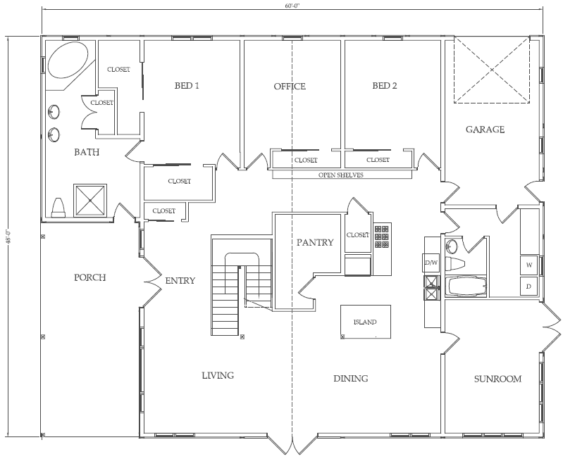Sample floor plans for Barn house blueprints