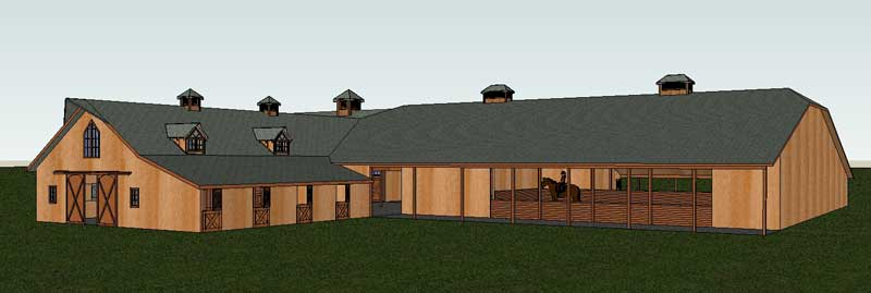 Barn Home Attached Arena Riding