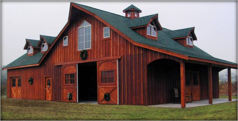 The great western style barn kit for House horse barn plans