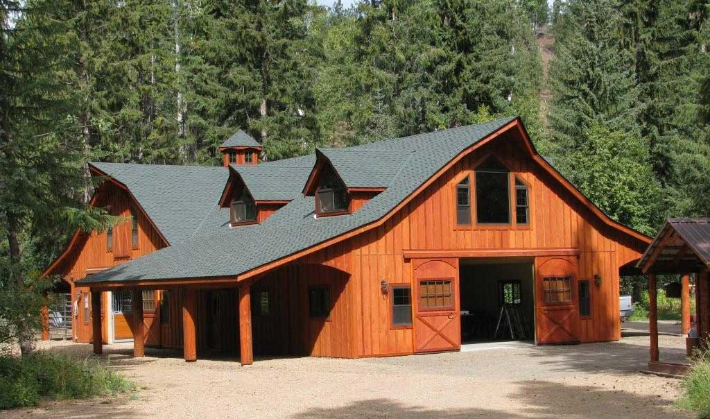 The great western style barn kit for Horse barn with apartment plans