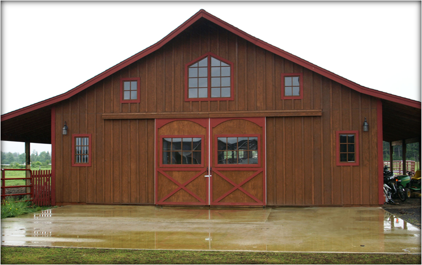 The pioneer style barn kit for Barn style house designs
