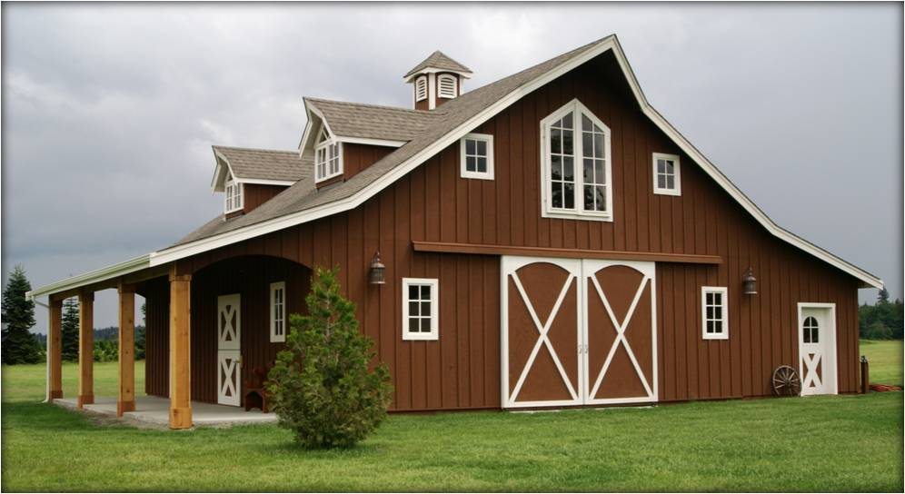 Pole Barn Style Home Plans