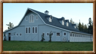 gambrel barns, barns, barn kits, horse barns, barn homes