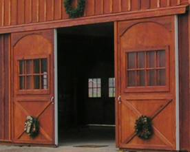 large barn door, sliding barn door, barn door, alleyway door