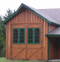 rv barn door, large barn door, swinging barn door